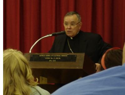 Archbishop Chaput, OFM Cap., speaking in New York