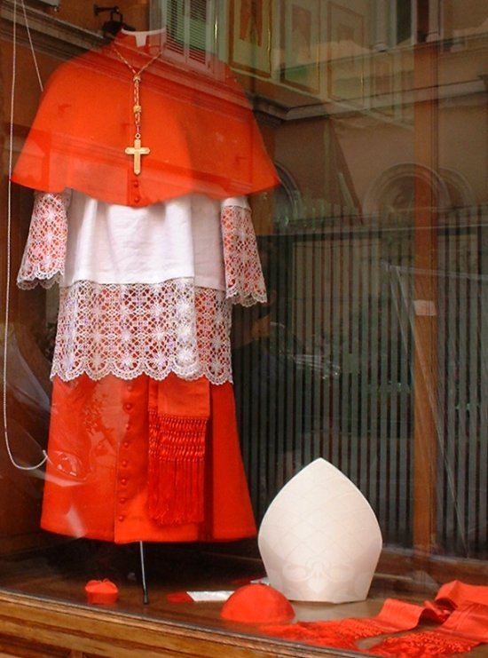 Vestments at Gammarelli's, via Santa Chiara