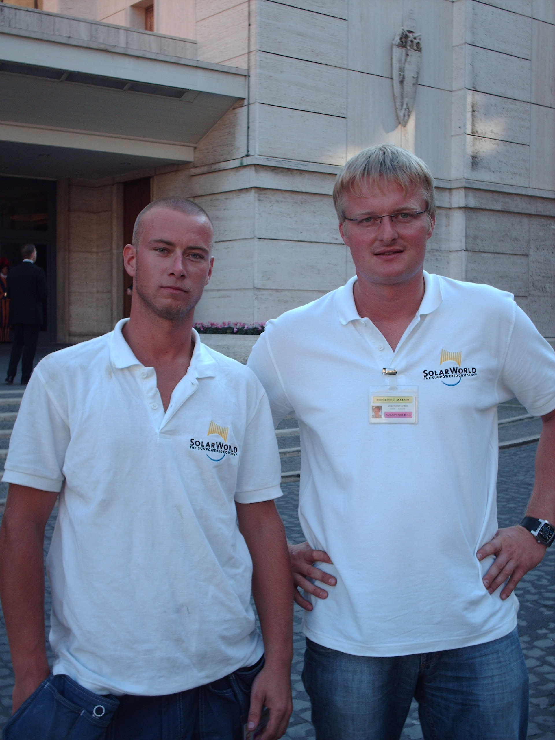 Andre Koekenhoff (right) with Thermovolt co-worker