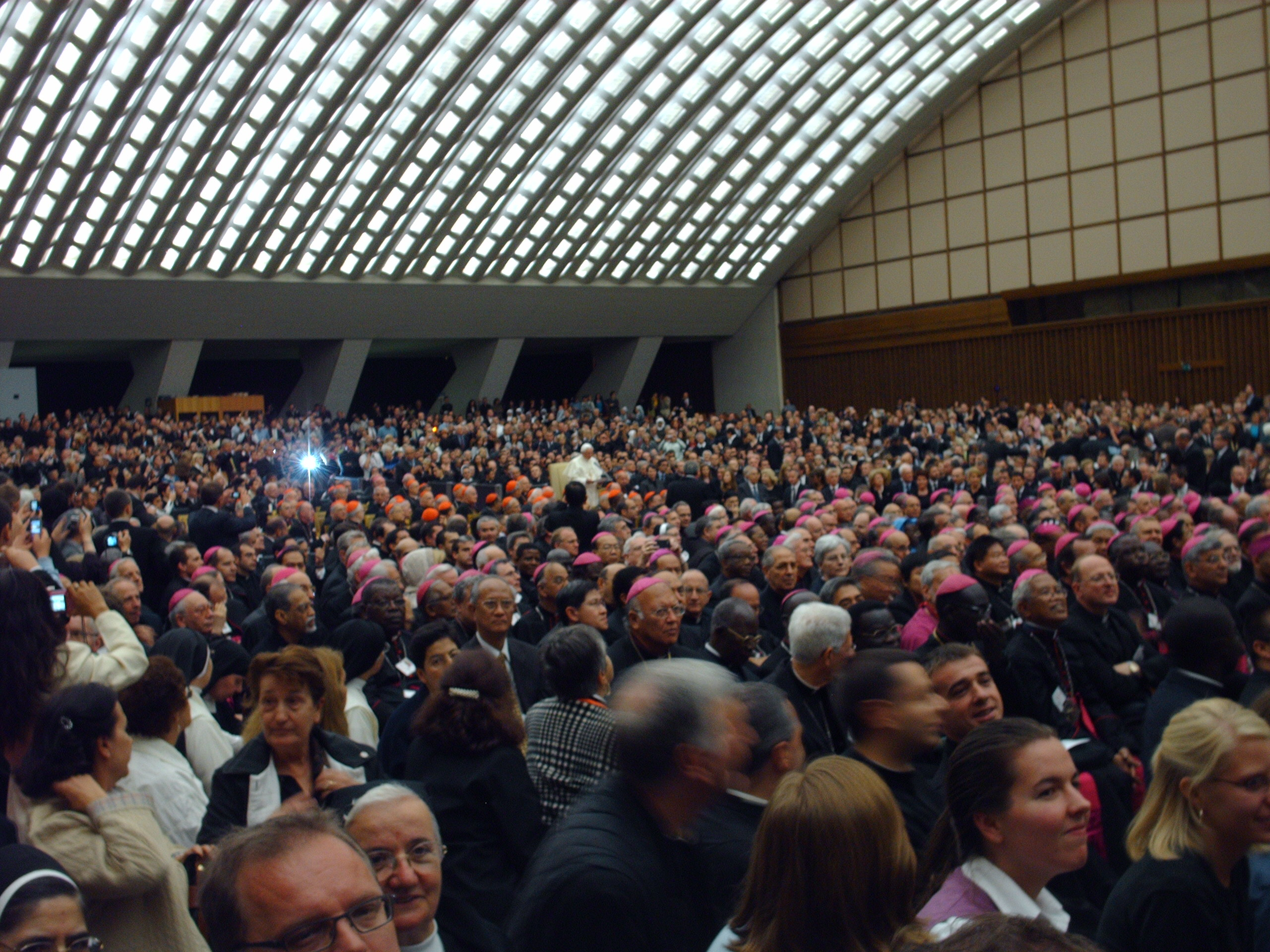 """Pope Benedict XVI, Synod Fathers and other invited guests at the """"Testimony"""" premiere"""