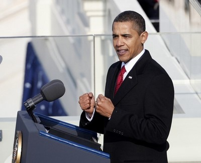 President Obama at Inauguration, Photo by Reuters