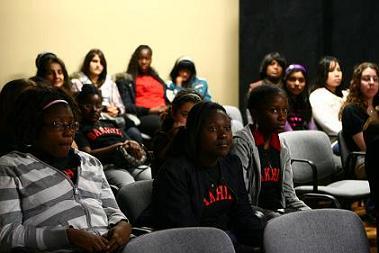 Students from St. Josephine Bakhita Catholic Elementary School watch Beloved