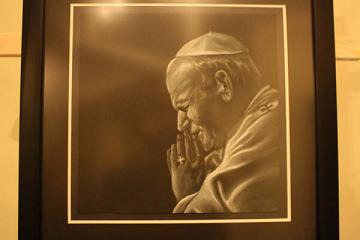 Painting of John Paul II by Martin Rebello