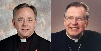 Archbishop Michael Miller and Archbishop Pierre-André Fournier
