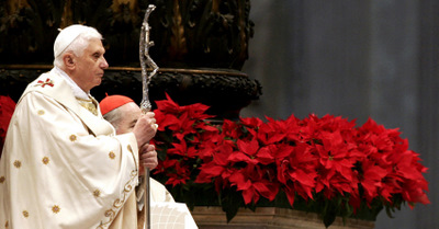 POPE BENEDICT CELEBRATES MASS IN ST. PETER'S BASILICA NEW YEAR'S