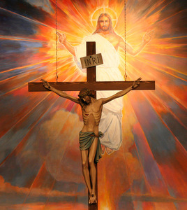 CRUCIFIX HANGS BEFORE MURAL DEPICTING RESURRECTION IN ARIZONA SA
