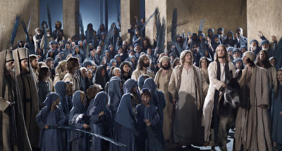 2) scene from passion play