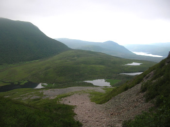 Climbing Gros Morne mountain in Newfoundland