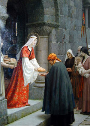 The Charity of St. Elizabeth of Hungary by Edmund Leighton