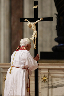 "Image result for ""wood of the cross"" pope"