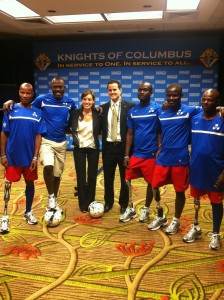 Michele Nuzzo and David Naglieri with Team Zaryen, from Haiti