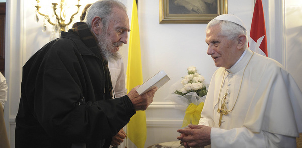 POPE MEETS WITH CUBA'S FORMER PRESIDENT FIDEL CASTRO