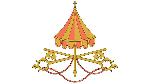 'Sede vacante' insignia used by Vatican during period between popes
