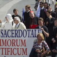 U.S. Cardinal Burke takes part in pro-life march in Rome
