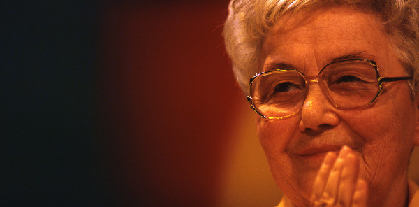 CHIARA LUBICH PICTURED IN ROME IN 1997