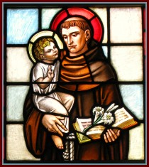 Anthony of Padua<br /> stained glass