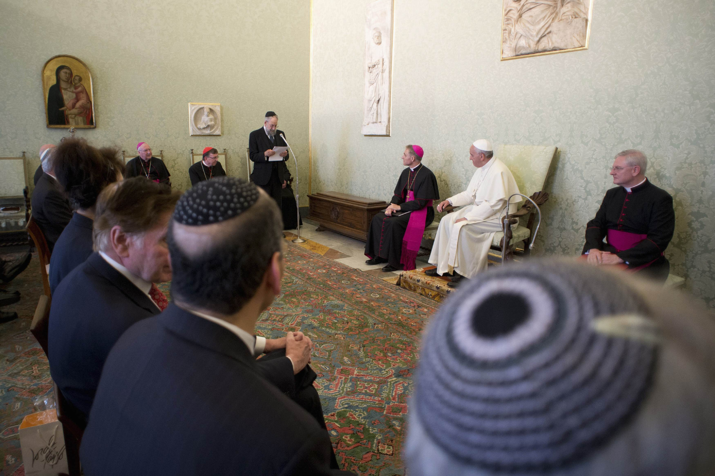 Pope Francis attends private audience with the International Jewish Committee on Interreligious Consultations at Vatican