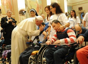 Francis kissing sick in Assisi