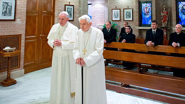 Image result for Photo  Pope Francis and Benedict