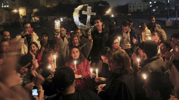 Egyptian Muslims and Christians celebrate Coptic Christmas Eve in Cairo