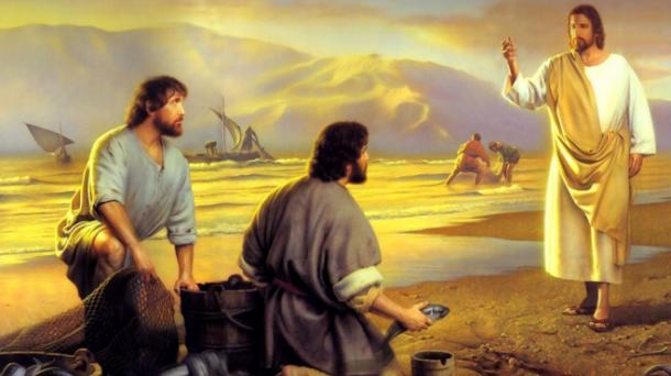 Jesus calls Peter cropped