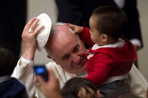 Pope with baby