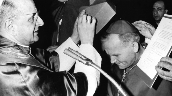 ARCHBISHOP WOJTYLA RECEIVES CARDINAL'S RED BIRETTA