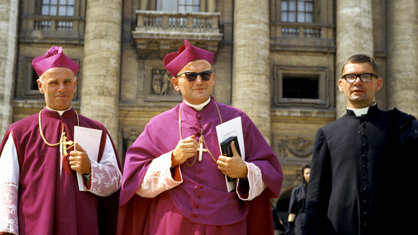 Polish Bishop Karol Wojtyla pictured at Vatican during Second Vatican Council