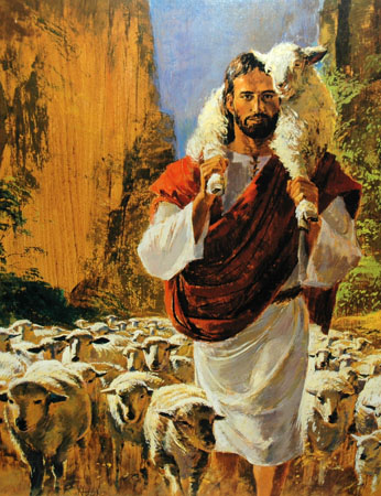 Jesus with herd