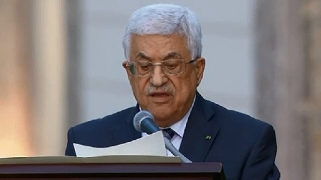 Palestinian President Mahmoud Abbas speaks at Invocation for Peace
