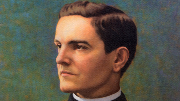 COLORIZED IMAGE OF FATHER MICHAEL J. MCGIVNEY