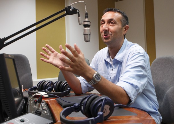 LINO RULLI , HOST OF 'THE CATHOLIC GUY,' PICTURED IN STUDIO AT VATICAN RADIO