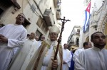 Cardinal Ortega leads procession during the feast of Our Lady of Charity of Cobre in Havana