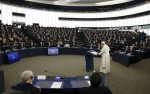 Pope Francis speaks at European Parliament in France
