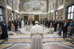 Pope Francis greeted by new ambassadors to Holy See during special audience at Vatican