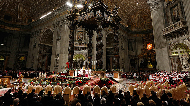 Christmas eve mass from St. Peter's Basilica