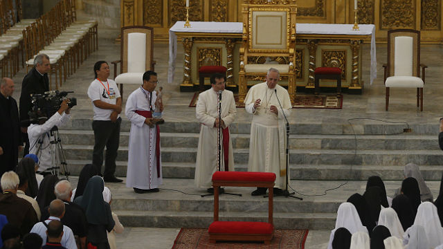 Pope Francis' Audience in Palo Cathedral with Clergy, Religious and Typhoon Yolanda Victims