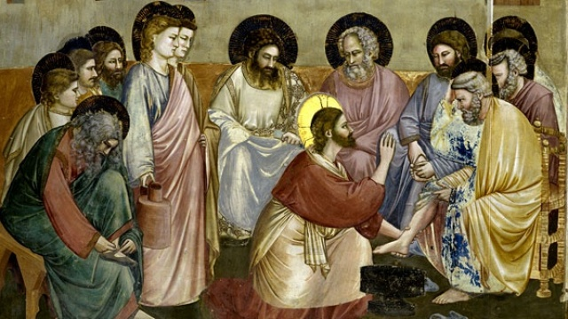 Washing of the Feet Giotto cropped