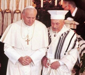 JP II Rabbi Toaff Synagogue 1986
