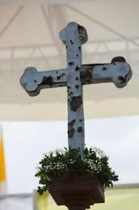 Cross war altar Sarajevo
