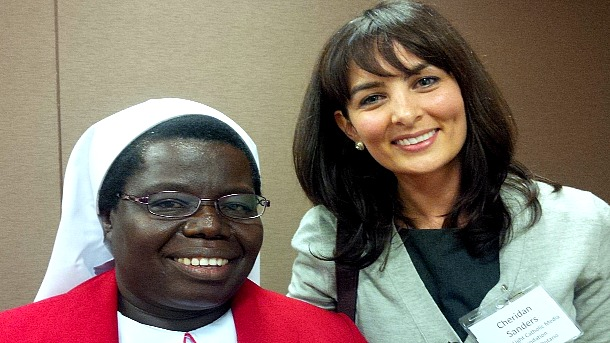 Cheridan Sanders meets another hero, Sr. Rosemary Nyirumbe, Sisters of the Sacred Heart