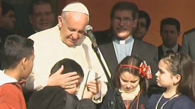 Pope_Paraguay_Children
