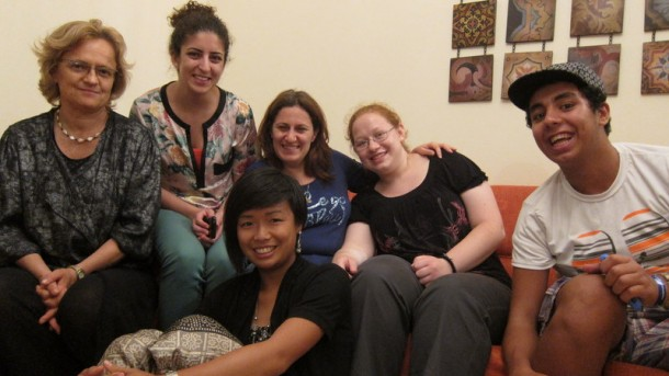Donata Ling, (centre in front row) at home in Bethlehem with the Focolare Movement.