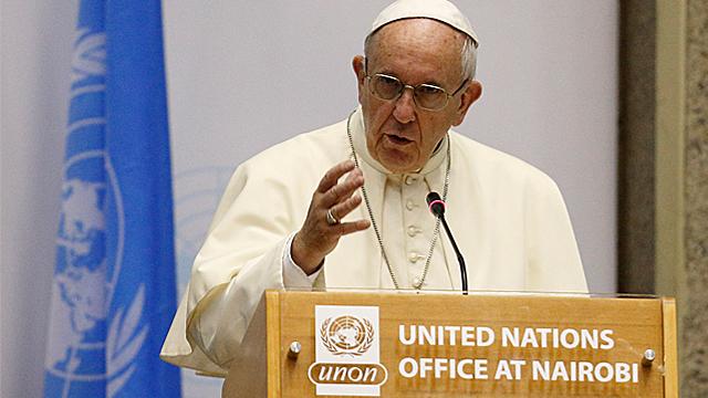 Pope In Kenya: Address at UN Office in Nairobi