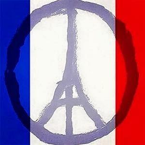 Tricolor Eiffel Tour Peace