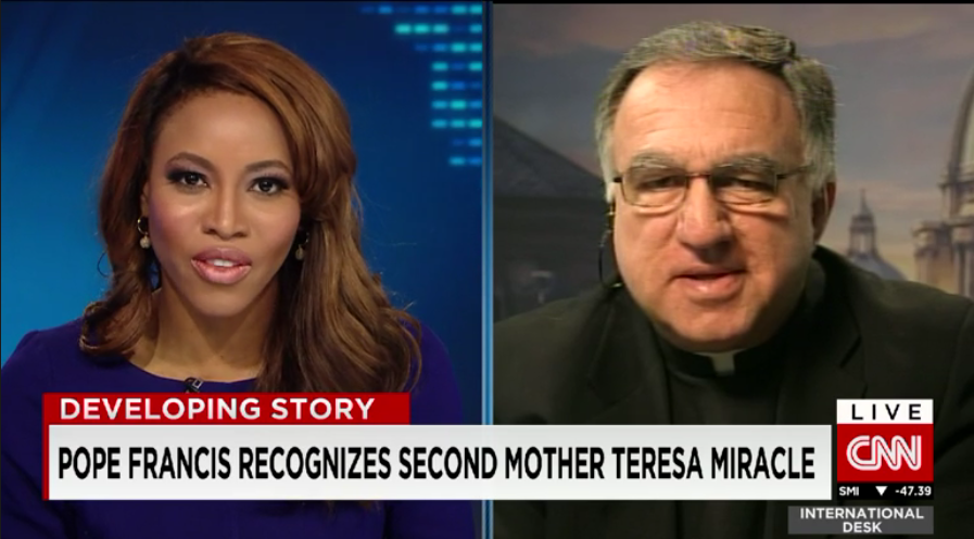 Fr. Rosica on CNN: Mother Teresa's Second Miracle