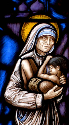 Teresa Calcutta window detail