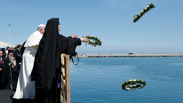 Pope Francis in Lesbos: Meeting at the Port of Mytilene – Remembering the Victims of Migration