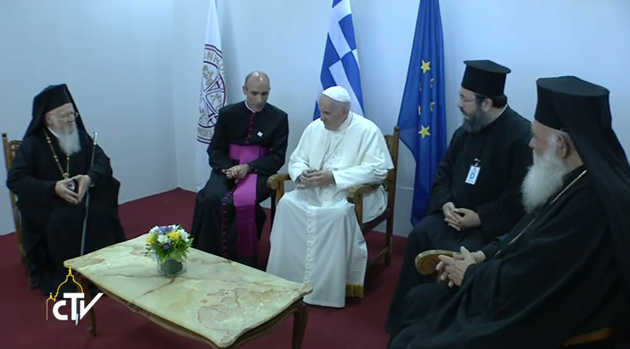 Pope Francis in Lesbos: Address of His Beatitude Ieronymos; Address of the Ecumenical Patriarch, Bartholomew