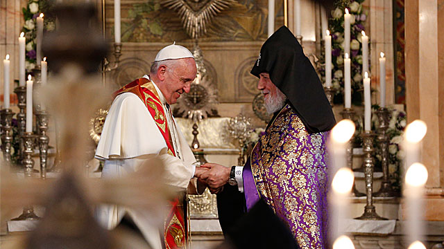 Pope In Armenia: Visit to the Armenian Apostolic Cathedral